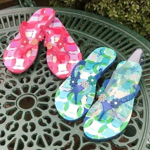 "BUNDLE OF ""COACH"" FLIP FLOPS SZ 9B"